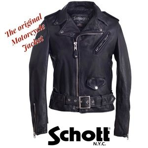 SCHOTT NYC Womens Vintaged Motorcycle Jacket Sz M